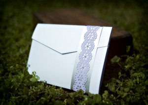 3-fold envelope style with Paper Accent Ribbon